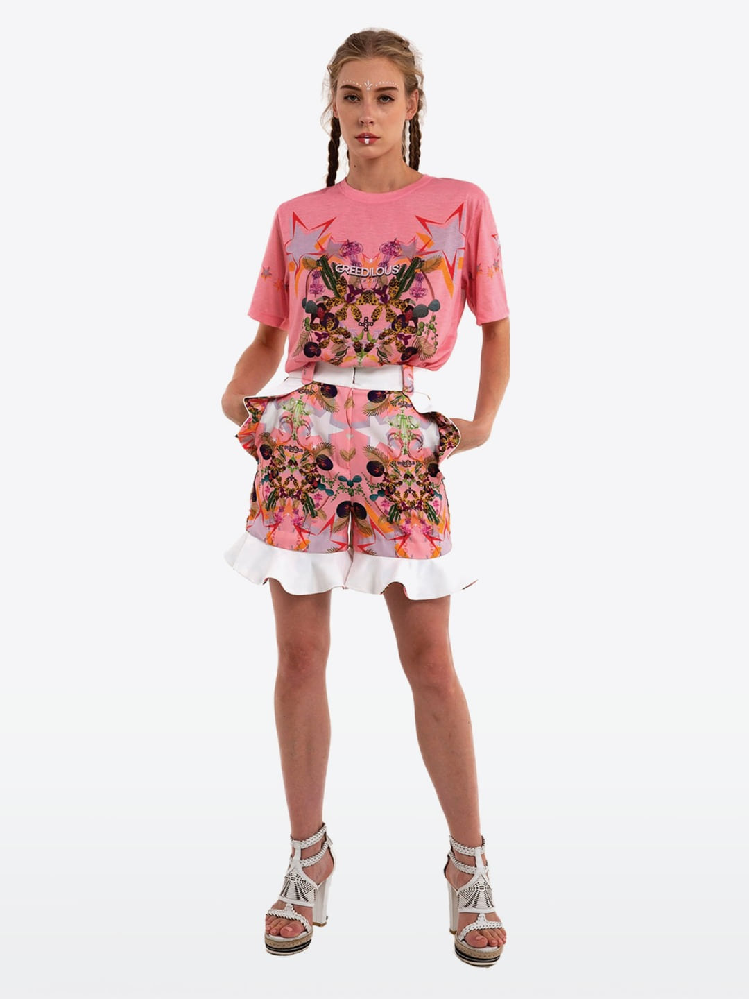 PEACH CHANDELIER T-SHIRT
