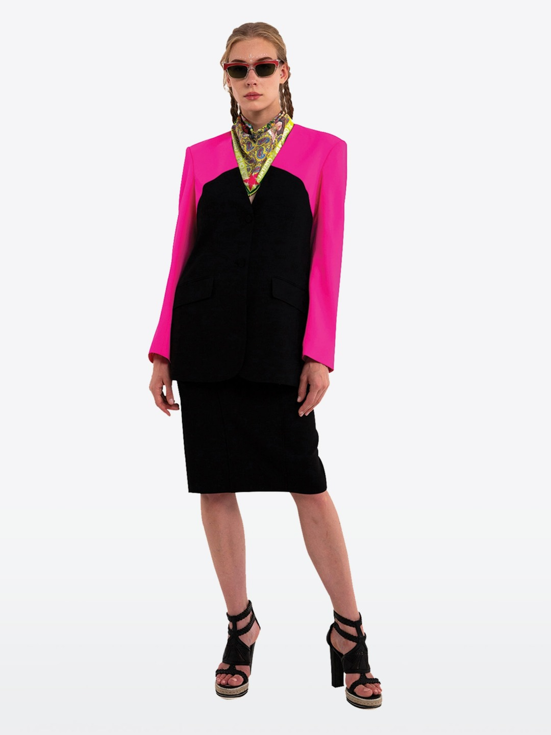 PINK NO COLLAR JACKET