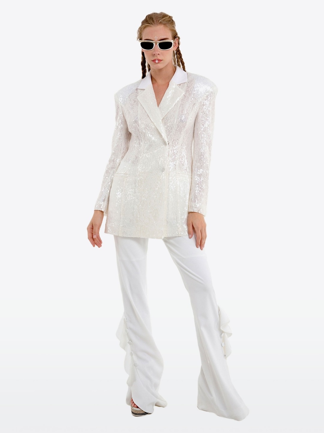 WHITE SPANGLE JACKET